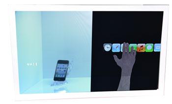 65吋穿透式TFT LCD广告展示屏
